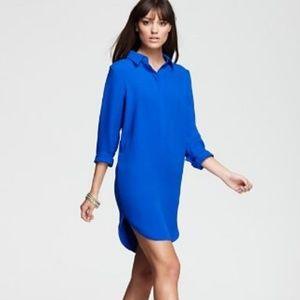 Vince NWOT Silk Shirt Dress in Colbalt Blue Sz 8